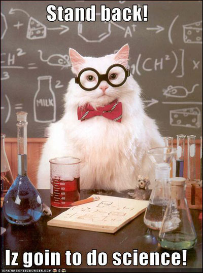 Stand back! Cat iz goin to do SCIENCE!